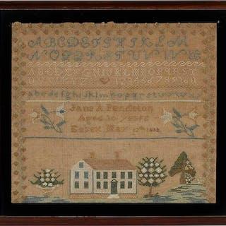 1833 Essex Connecticut House Sampler