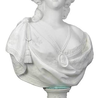 Sèvres Style Bisque Bust of Marie Antoinette