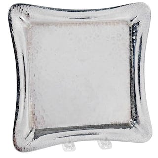 Tiffany Sterling Hammered Footed Tray