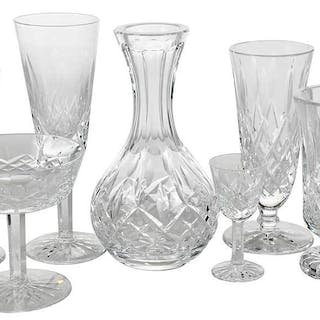 Waterford Lismore Cut Glass Partial Service