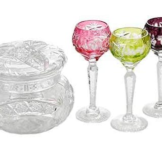 11 Cut Glass Table Items