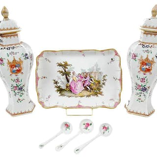 Three Pieces Continental Porcelain