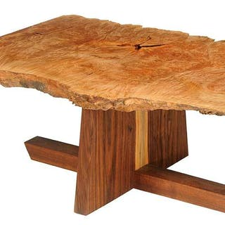 Nakashima Style Burl Maple Low Table