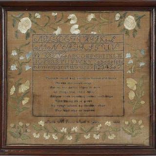 Signed 1832 Verse Sampler