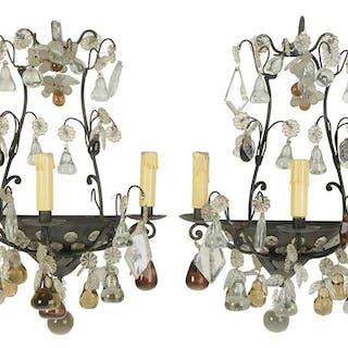 Pair Venetian Rococo Style Wall Lights