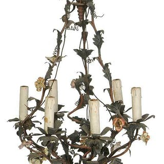 Provincial Louis XV Style Floral Chandelier