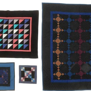 Four Pieced Quilt Panels