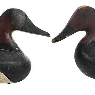 Two Maryland Canvasback Decoys: Boyd, Glen