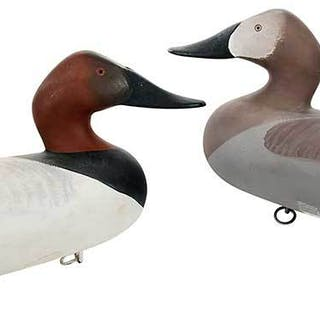 Pair Madison Mitchell Canvasback Decoys