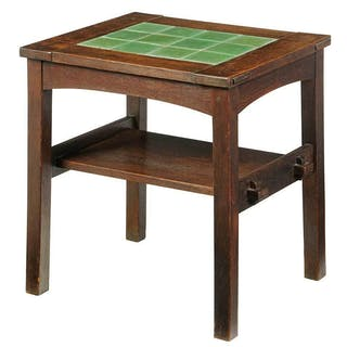 Stickley Craftsman Twelve Tile Tea Table