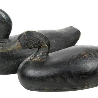 Two Early Duck Decoys