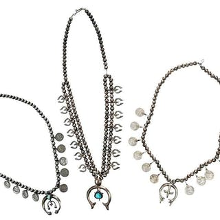 Three Southwest Sterling Silver Necklaces
