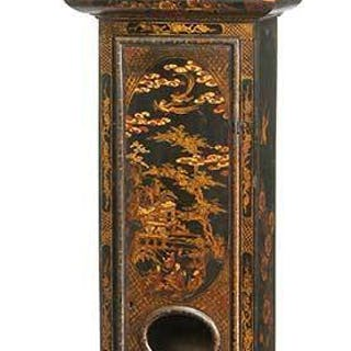 William and Mary Japanned Tall Case Clock