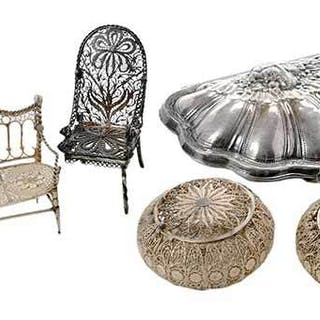Eight Miniature Silver Items