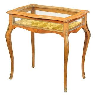 Provincial Louis XV Style Vitrine Table