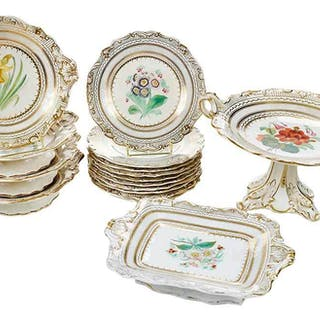 16 Piece Floral Porcelain Dessert Set