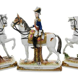 Three Kister Napoleonic Marshal Figurines