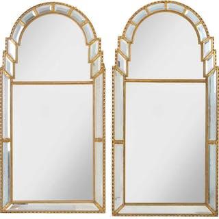 A Near Pair Venetian Style Mirror Framed Mirrors