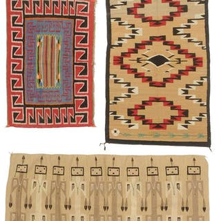 Three Southwestern Pictorial Weavings