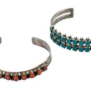 Four Southwest Silver Cuff Bracelets