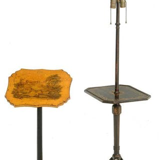 Two Regency Style Decorated Stands