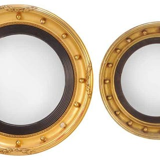 Two Regency and Regency Style Bull's Eye Mirrors
