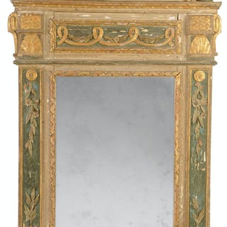 Italian Neoclassical Paint Decorated Mirror