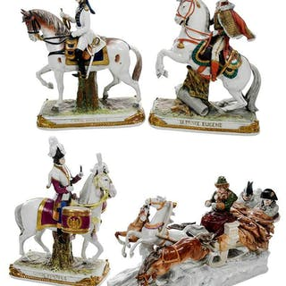Four Kister Porcelain Napoleonic Figurines