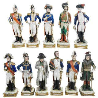 Eleven Kister Porcelain Napoleonic Figurines