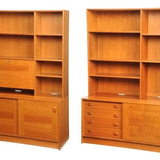 Two Similar Danish Modern Bookcases