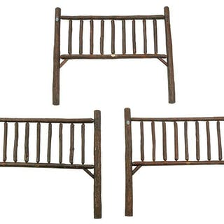 Three Old Hickory Headboards