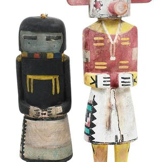 Two Hopi Carved and Polychrome Kachina Dolls