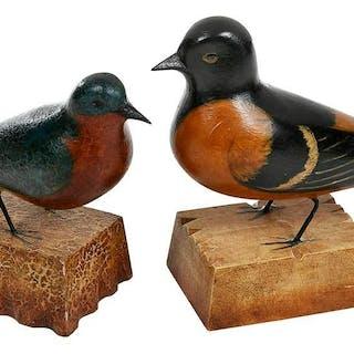 Two Frank Finney Bird Carvings