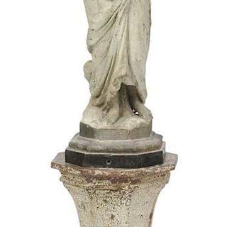 J. W. Fiske Zinc Statue of Virtue