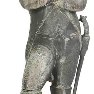 Early Cast Zinc Figure of Napoleon
