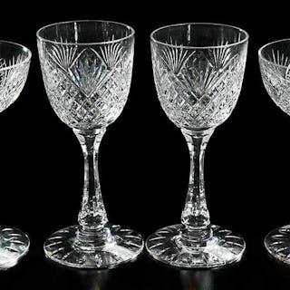 18 Brilliant Period Cut Glass Stems