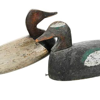 Two North Carolina Decoys Including Wilton Walker