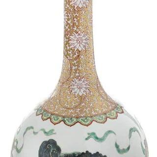 Large Chinese Famille Verte Porcelain Vase