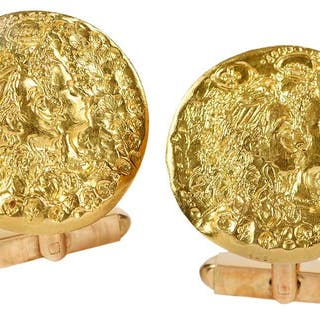 Salvador Dali D'or for Piaget Cuff Links