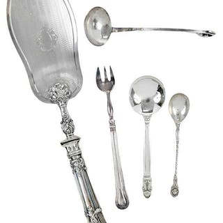 24 Pieces Continental Silver Flatware