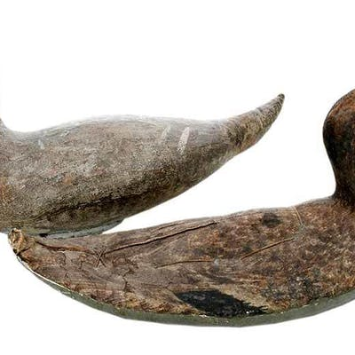 Two Fabric Duck Decoys