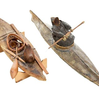 Two Inuit Kayak Models