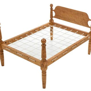 Miniature Cannonball Rope Bed by Fred T. Laughon