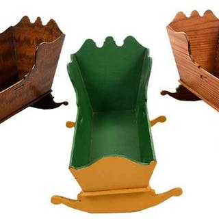 Three Miniature Cradles by Fred T. Laughon