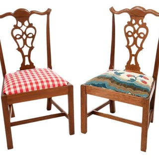 Pair Miniature Chairs by Fred T. Laughon