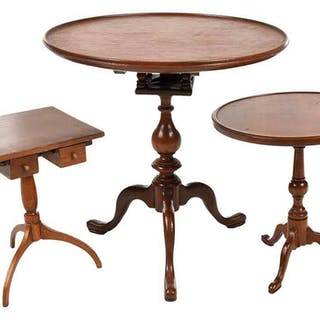 Group of Three Miniature Tables Fred T. Laughon