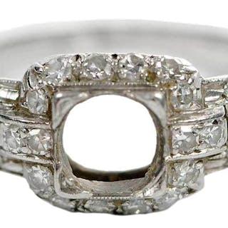 Art Deco Platinum & Diamond Mounting