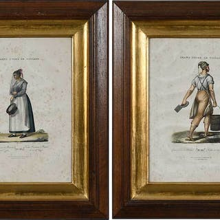 Two Framed French Prints