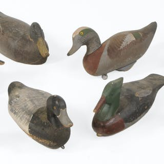 Eight Carved and Painted Duck Decoys