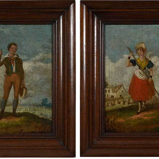 Pair of Continental School Paintings